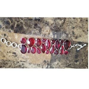 """Jewelry - Huge Mozambique Garnet Bracelet 8.5"""""""